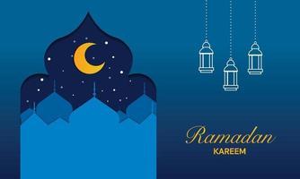 Ramadan Kareem Islamic Banner Vector