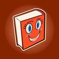 libros, sonrisa, caricatura, vector, ilustración, diseño vector
