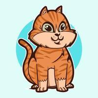 cute cat cartoon vector illustration