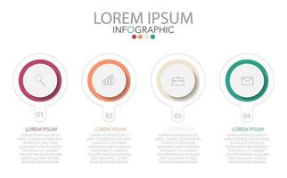 Infographic template in four steps, Template for diagram, graph, presentation and chart. vector