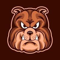 Diseño de ilustración de vector de cabeza de bulldog