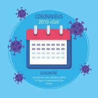 plantilla de banner de campaña de prevención de coronavirus vector