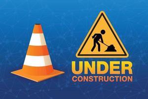 Building under Construction site, vector design.
