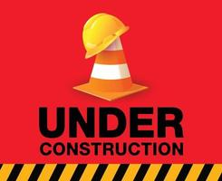 Building under Construction site sign vector
