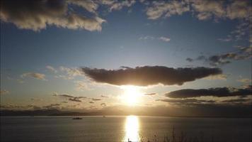timelapse da paisagem marítima na baía de avacha, Kamchatka video
