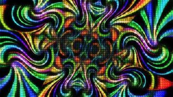 caleidoscópio de fundo abstrato de esferas coloridas video