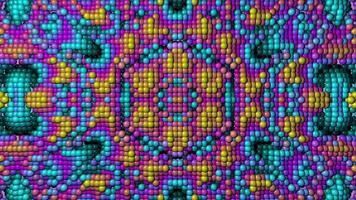 caleidoscopio de fondo abstracto de esferas de colores video