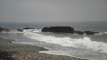 Seascape with Rocks and Waves video