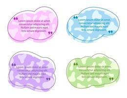 plantilla de burbuja de discurso de cita de color vector