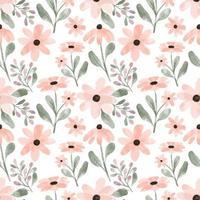 acuarela melocotón pétalo lindo floral de patrones sin fisuras vector