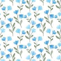 acuarela lindo azul flores silvestres floral de patrones sin fisuras