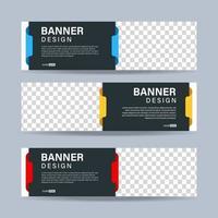 diseño de plantillas de banners abstractos. vector eps 10