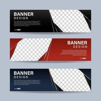 Abstract banners template design. Vector EPS 10