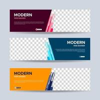 Modern banners template design. Vector EPS 10
