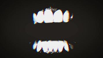 mandíbulas de raiva alienígena assustadora com correção de falhas