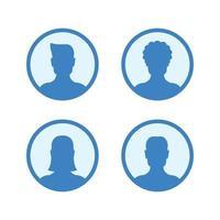 imágenes de perfil de avatar de silueta. icono de avatares. vector