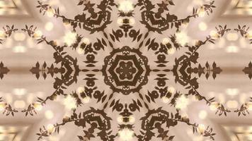 fond abstrait kaléidoscope marron video
