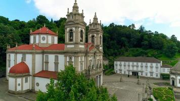Bom Jesus Church Braga Portugal Aerial View