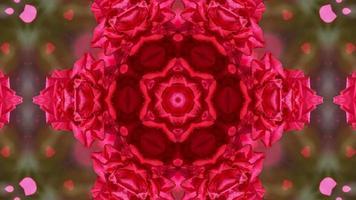 fundo de caleidoscópio romântico abstrato com padrão floral