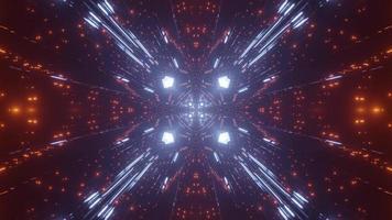 Ilustración colorida del diseño del caleidoscopio 3d para el fondo o la textura