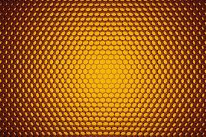 Panel of orange LED lighting