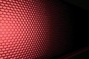 Panel of red LED lighting