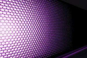 Panel of purple LED lighting