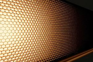 Panel of brown LED lighting