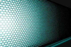 Panel of blue LED lighting
