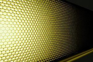 Panel of yellow LED lighting