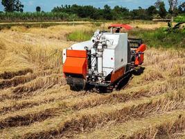 cosechadora en un campo