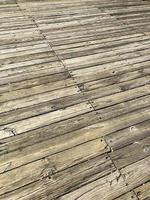 Old boardwalk with worn-out planks