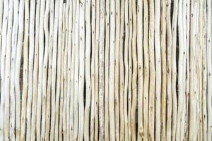 Wooden fence with thin long branches