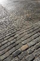 antiguo camino de adoquines