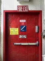 An indoor fire exit door photo