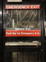New York City metro Emergency Exit door photo