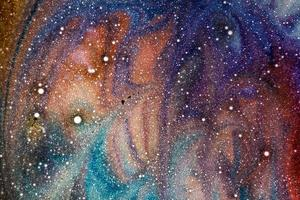 Colorful cosmic background look photo
