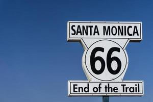 End of the trail sign at Santa Monica Pier, Route 66