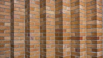 Brick wall with geometric shapes