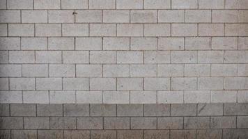 White concrete block wall photo
