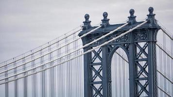 vista detallada del puente de manhattan desde manhattan foto