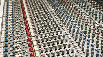 Mixer board in a recording studio