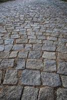 Old cobblestone road photo