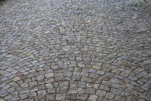 Wide cobblestone road
