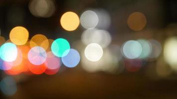 Colorful lights at night with bokeh photo