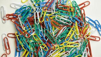 Pile of paperclips photo
