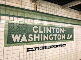 Clinton Washington Subway Station sign