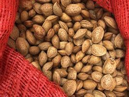 Almonds in a bag
