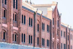 Exterior of brick warehouse in Yokohama city, Japan photo
