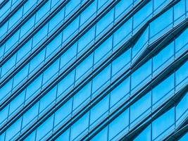 Abstract glass exterior of office building